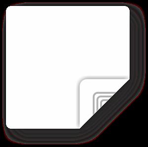Obrázek Bílý štítek, čtvercový 35mm, Ultralight