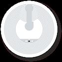 Obrázok pre výrobcu Transparent Round Sticker, 29mm, NTAG203