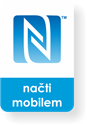 Obrázok pre výrobcu Small rectangle NFC sticker with the N-Mark graphics