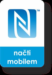 Obrázek Malý obdélnikový NFC štítek se znakem N-Mark