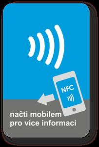 Obrázok pre výrobcu Big rectangle NFC sticker with the NFC Wave graphics