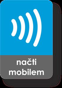 Obrázek Malý obdélnikový NFC štítek s vlnkovým znakem