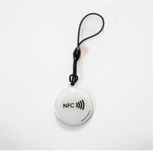 Obrázok pre výrobcu Epoxy keyfob with NFC logo Round shape White