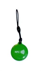 Obrázek Zelený okrouhlý přívěsek s logem NFC