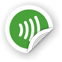 Obrázok pre výrobcu NFC sticker 50mm with wave, more colors