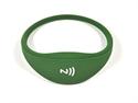 Obrázek Pohodlný a univerzální silikonový NFC náramek - Tmavě zelený