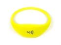 Obrázek Pohodlný a univerzální silikonový NFC náramek - Žlutý