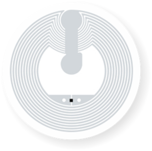 Picture of Transparent NFC Sticker, 25mm, NTAG213