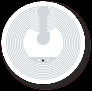 Obrázok pre výrobcu Transparent NFC Sticker, 25mm, NTAG213