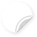 Picture of White NFC Sticker, 25mm, NTAG213