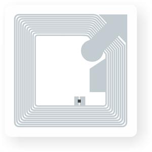 Obrázek Transparentní NFC štítek, 35x35mm, NTAG213