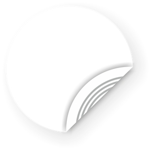 Picture of White NFC Sticker, 40mm, Ultralight
